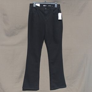 Women's Mid Rise Boot Leg Black Jean 8